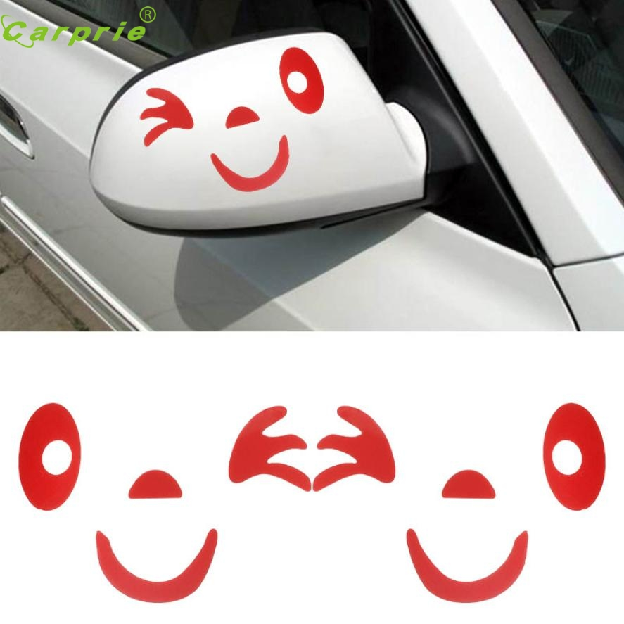 Car mirror sticker design - Mar New Arrival Smile Face Design 3d Decoration Sticker For Car Side Mirror Rearview China
