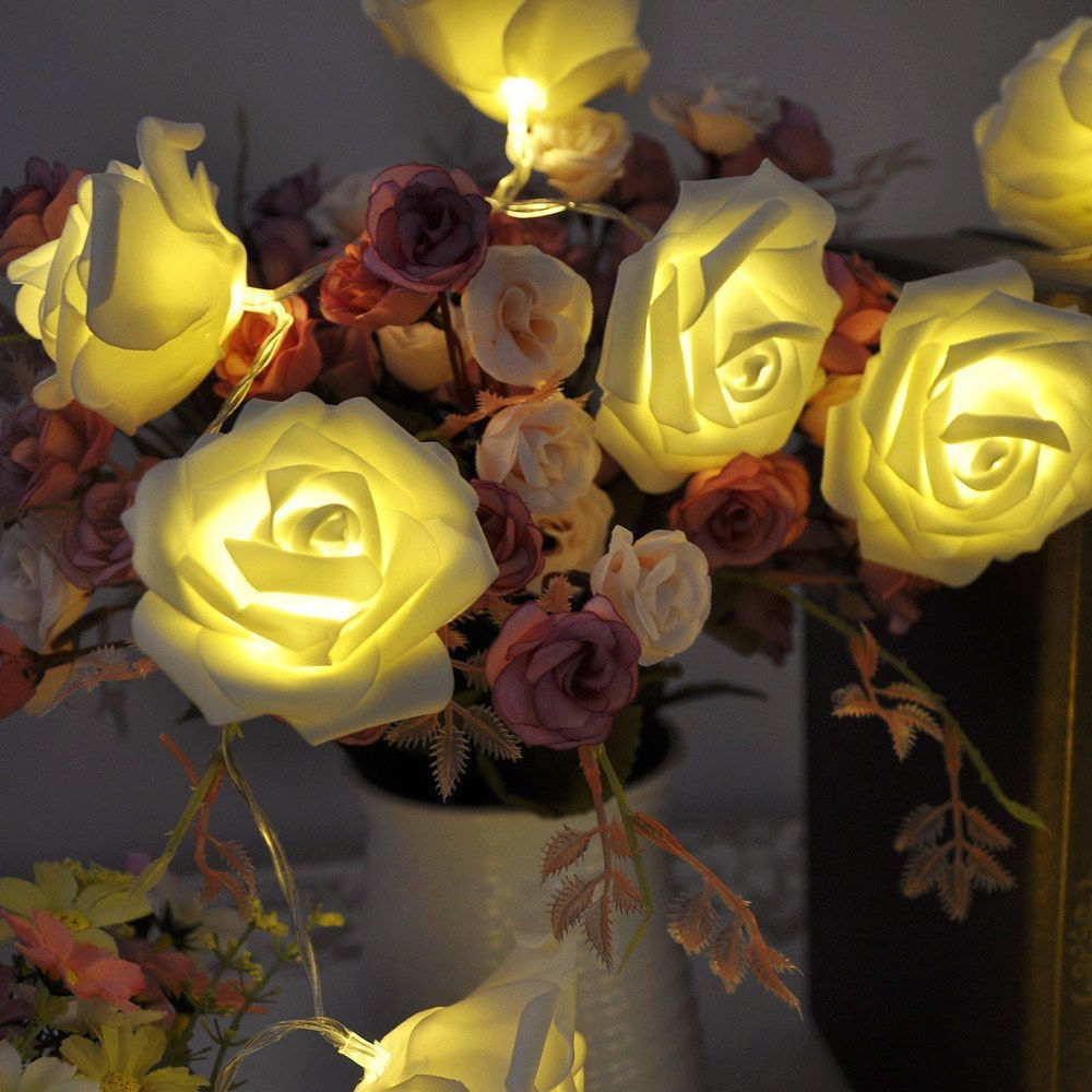3M 20 LED Rose Flower Fairy String Lights Wedding Decoration Home Party Christmas NEW - New Ray store