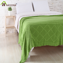 HAKOONA Full Cotton Thicken Cable Knit Baby Cover Sofa Air Conditioning Wool Blanket(China (Mainland))