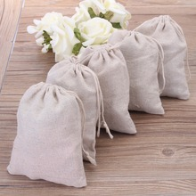 "2016 Cotton Linen Gift Bags 10x15cm(4""x6"") Wedding Party Favor Holders Neckalce Bracelets Bangle Jewelry Muslin Drawstring Pouch(China (Mainland))"