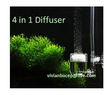30pcs Aquarium plants tank Ceramic CO2 diffuser ATOMIZER 4 in 1 bubble counter check valve + Free shipping(China (Mainland))