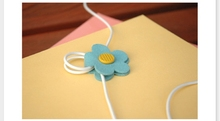 1PCS candy flower Earphone Winder Cable Organizer Holder For Iphone for Mp5 Multi-styles A0007(China (Mainland))