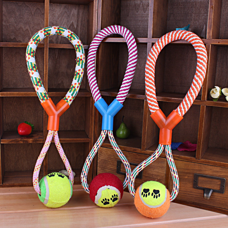 1pcs New Pet Products Dog Ball Clean Teeth Pet Toy Puppy Chew Cotton 8 Rope Ball Braided Bone Knot Toys Playing Supplies(China (Mainland))