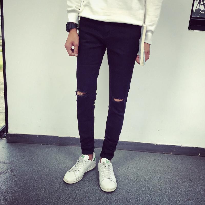 Black skinny jeans holes in knees - Black Skinny Jeans Holes In Knees – Your New Jeans Photo Blog