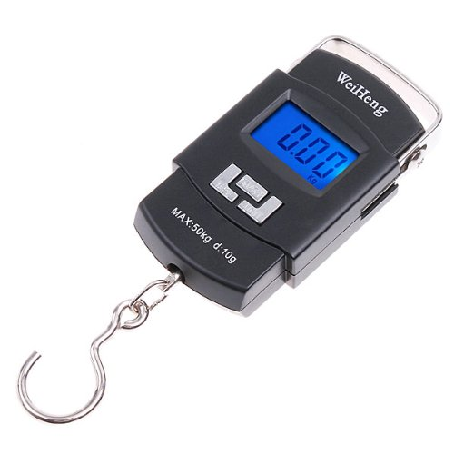 GSFY-WeiHeng 50KG/10g Mini Digital Hanging Luggage Fishing Weighing Scale Black(China (Mainland))