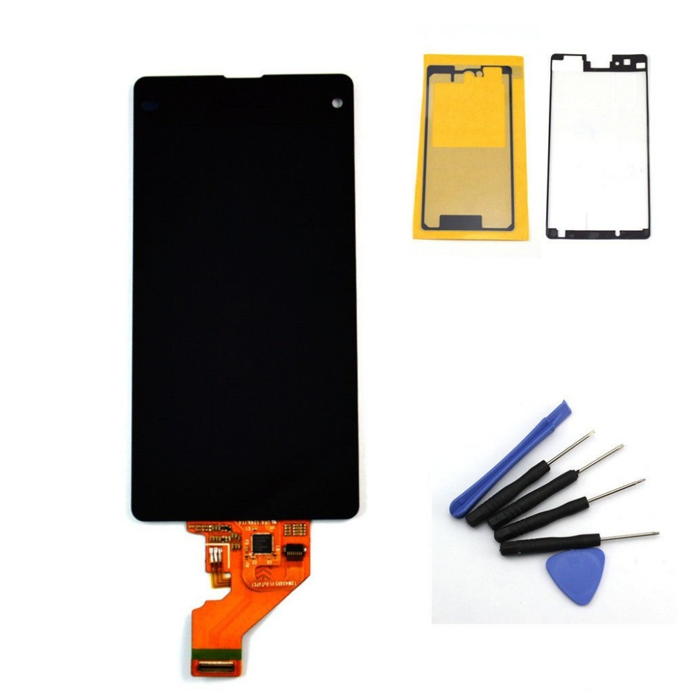 For Sony for Xperia Z1 Mini Compact D5503 M51W LCD Display Touch screen with digitizer assembly + Adhesive + Tools,Free shipping