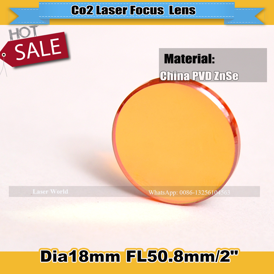 "CN ZnSe Dia 18mm FL 50.8mm 2""Co2 Laser Focus Lens Focusing Mirror For Laser Cutter And Laser Engraver Machine Free Shipping(China (Mainland))"