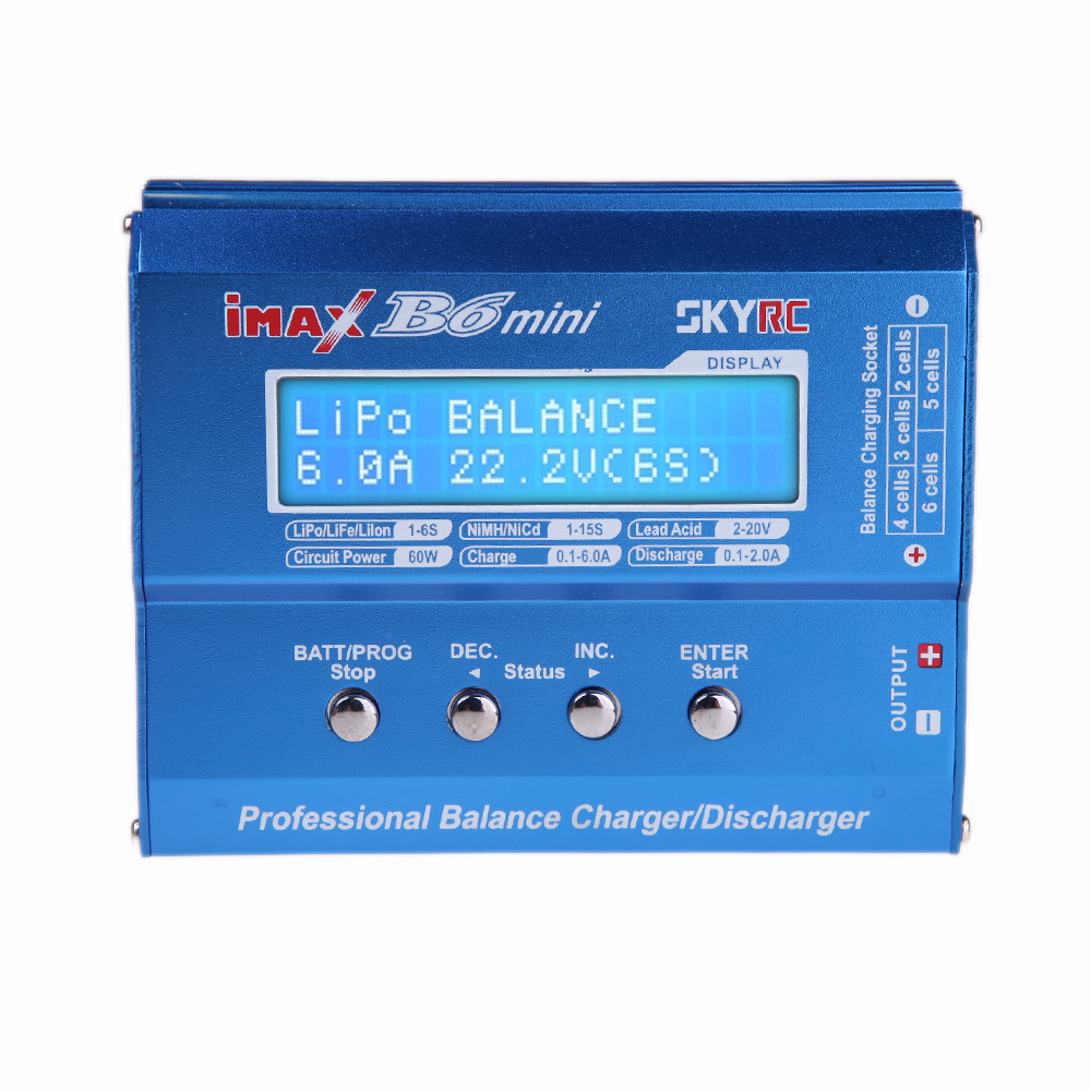 Hot sale Best Quality SKYRC iMAX B6 Mini New Version 60W 6A RC Battery Balance Charger + Discharger free shipping(China (Mainland))