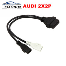 VAG Adapter For AUDI 2X2 OBD1 OBD2 Car Diagnostic Cable 2P+2P Fits Audi 2X2Pin to OBD2 16Pin Female Connector VAG COM VW Skoda(China (Mainland))