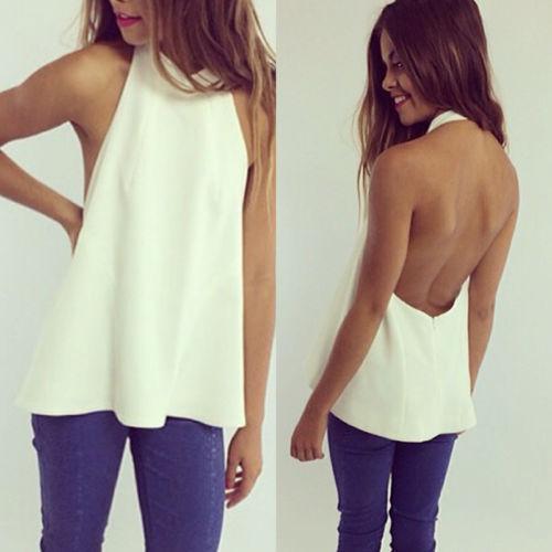 HOT 2015 new Sexy Women Summer Casual Sleeveless Shirt Chiffon Loose Vest Tank TopОдежда и ак�е��уары<br><br><br>Aliexpress