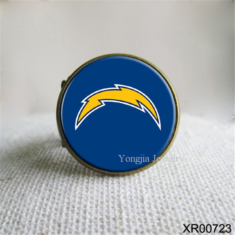 National Football League fashion San Diego Chargers Rings Casual Resizable Rings Party(China (Mainland))
