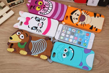 Buy 3D Cartoon Animal Monsters Sulley Tigger Marie Alice Cat Slinky Dog Silicone Case Cover iPhone 5 5G 5S for $1.99 in AliExpress store