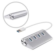 4 разъём(ов) USB 3.0 Hub премиум алюминиевый концентратор с Built-in10 дюймовый USB кабель для имак / MacBook Air / MacBook Pro #262