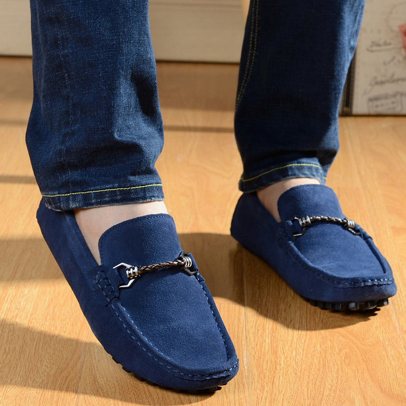 Size 38~44 New Suede Leather Men Boat Shoes Mens Mint Green Flat Platform Shoes Medusa Casual Nubuck Shoes Babet Apart Shoes(China (Mainland))
