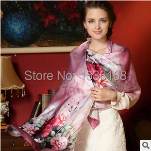 2015 summer style new fashion 100% natural silk ,women scarf , shawl, wrap 12colors(China (Mainland))