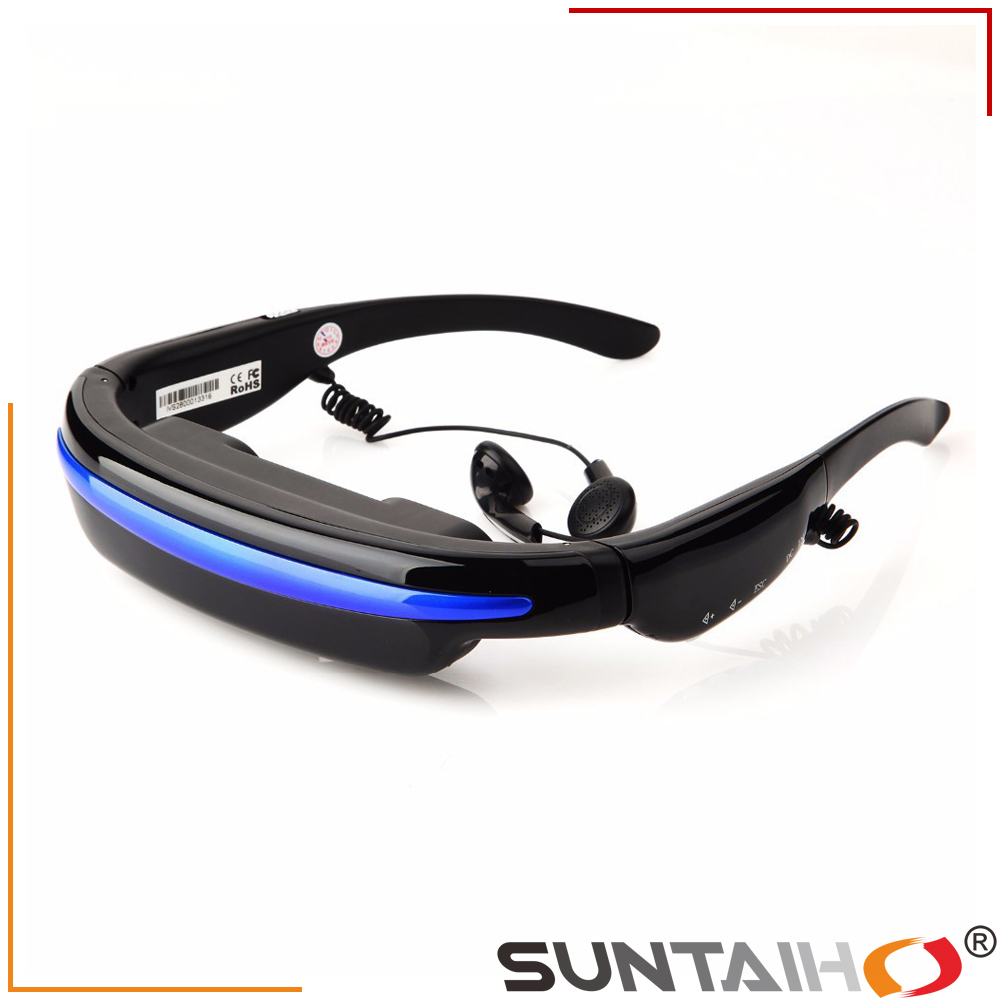 Virtual Private Theater System 52'' 4:3 Display HD 3D Stereo 4GB Flash Video Glasses(China (Mainland))
