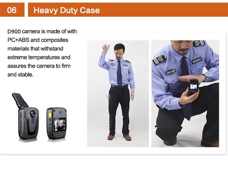 Free Shipping!D900 Novatek 96650 32GB Full HD 1080P Police Body Lapel Worn Video Camera Recorder DVR IR Night Cam 6-hour Record