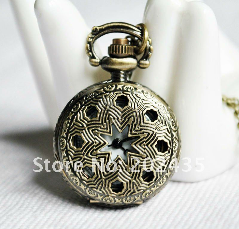 Freeshipping wholesale 20pcs lot could mix different styles necklace small pocket watches godmat Dia27mm S406