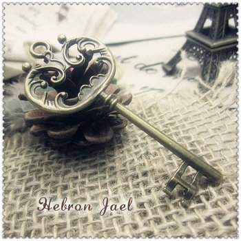Free shipping(100pieces)Bronze Jewelry Key Pendant(2850#)wholesale and retail Retro Fashion Jewelry Accessories