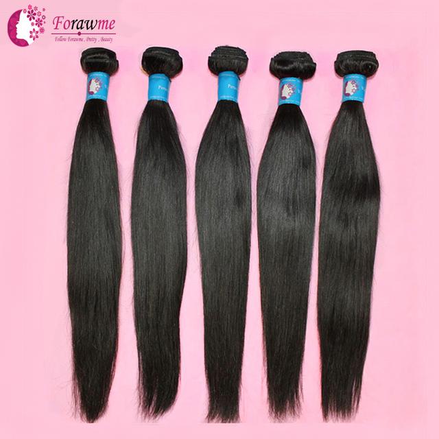 WWW.FORAWMEHAIR.COM Forawme Hair 100 Human Hair  Peruvian Virgin Hair Straight  3 bundles lot 1B Soft  Weft