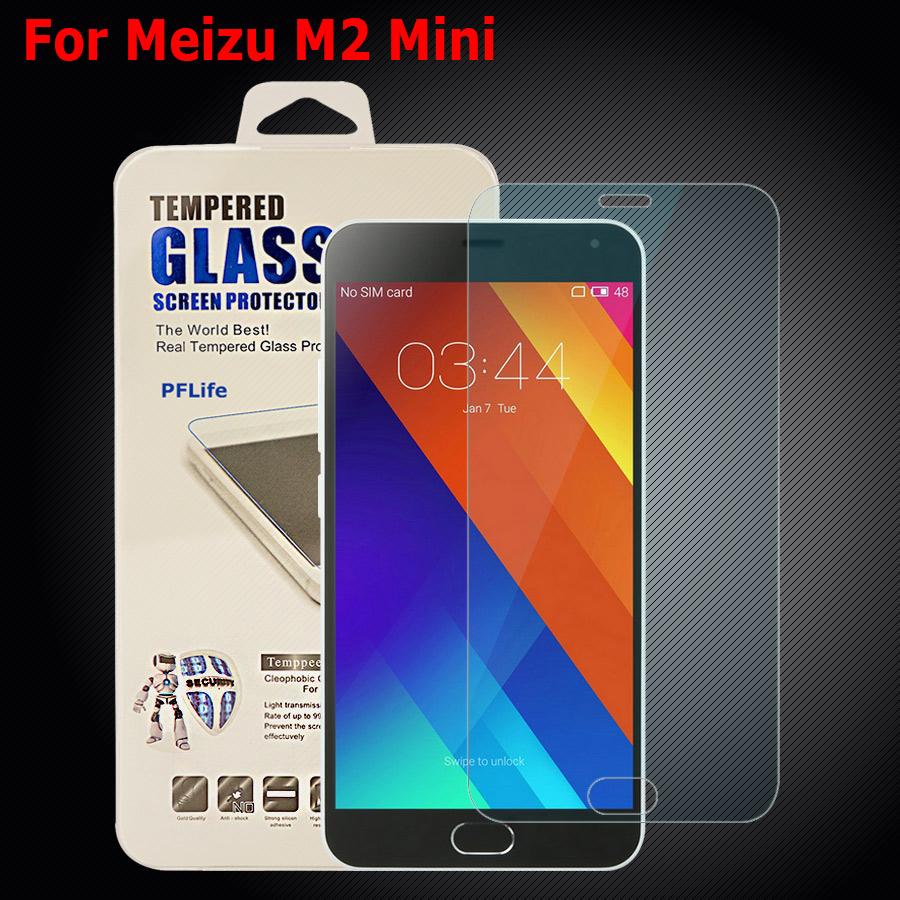 Meizu M2 mini Tempered Glass Thin HD Hard Clear Premium Tempered Glass for Meizu M2 mini M2mini Screen Protector Protective Film(China (Mainland))