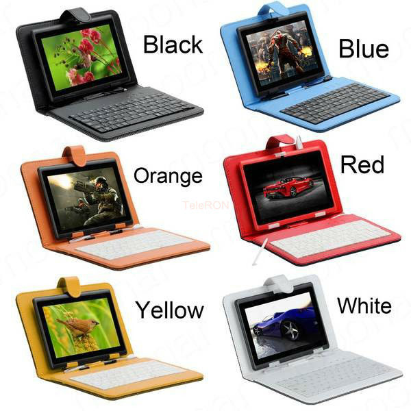 New Hot Universal keyboard for 8 inch tablet PU leather with micro usb keyboard Stand flip Cover teclast keyboard Gift(China (Mainland))