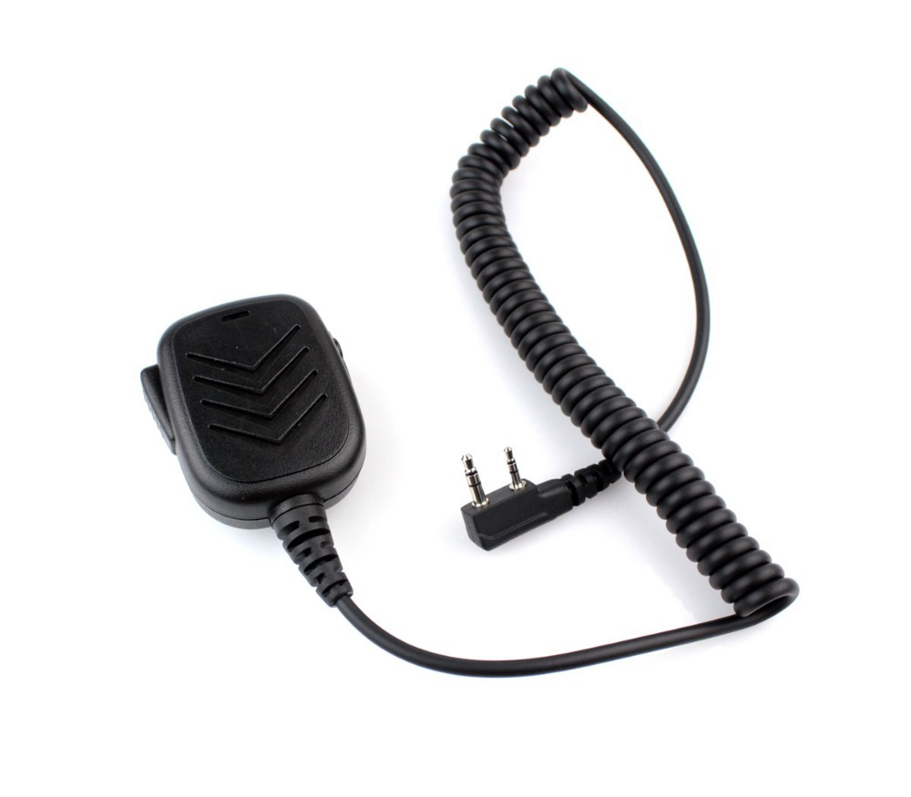 Handheld Speaker Mic for KENWOOD BAOFENG QANSHENG WOUXUN PUXING Radio Walkie talkie transceiver interphone J0156A  Fshow