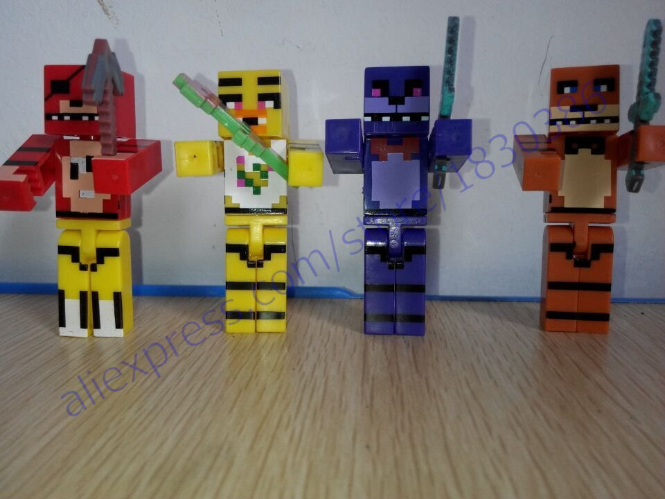 Minecraft Toy Freddy : Hot pcs set model minecraft five nights at freddy s