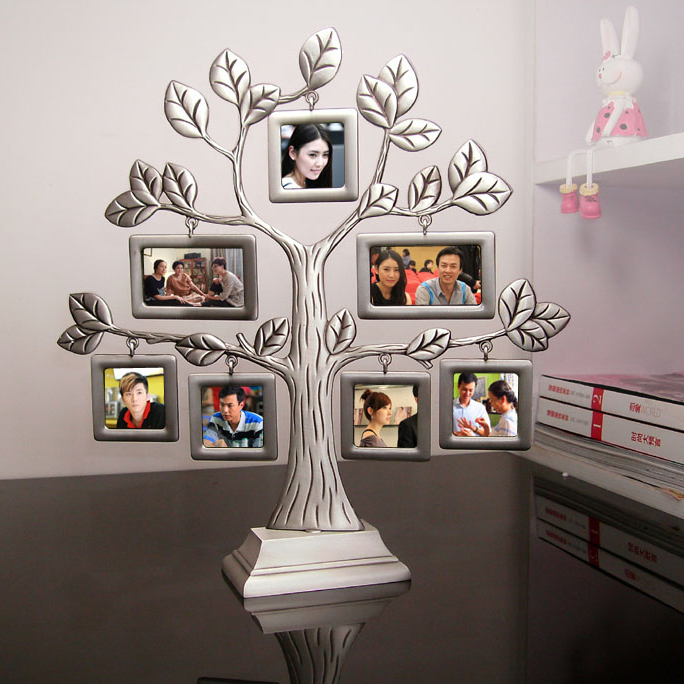 New fashion family tree metal photo frame lovely creative for Home decor accessories shop