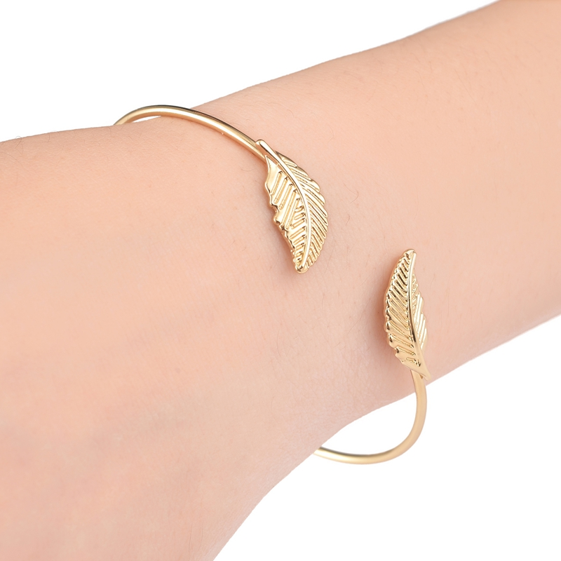 30 piece -G040 Wholesale New Fashion Delicate Double Leaves Thin Wire Cuff Bracelet Free Shipping<br><br>Aliexpress