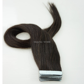 20PC 16inch 18inch 20inch 22inch 24inch Nature Tape in Skin Weft Hair Extensions Color (#1B Natural Black)