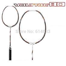 Free shipping 2pcs/loy 100% carbon fibre VOLTRIC 80  Badminton Racquet  VT 80