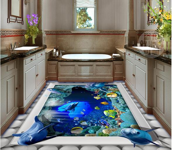 Wallpaper style picture more detailed picture about wall - Tapisserie salle de bain ...