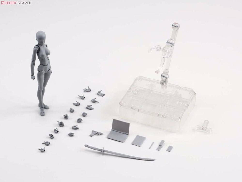 SHF S.H. Figuarts body chan DX SET Gray Color Ver. Female body Model element Action Figure(China (Mainland))