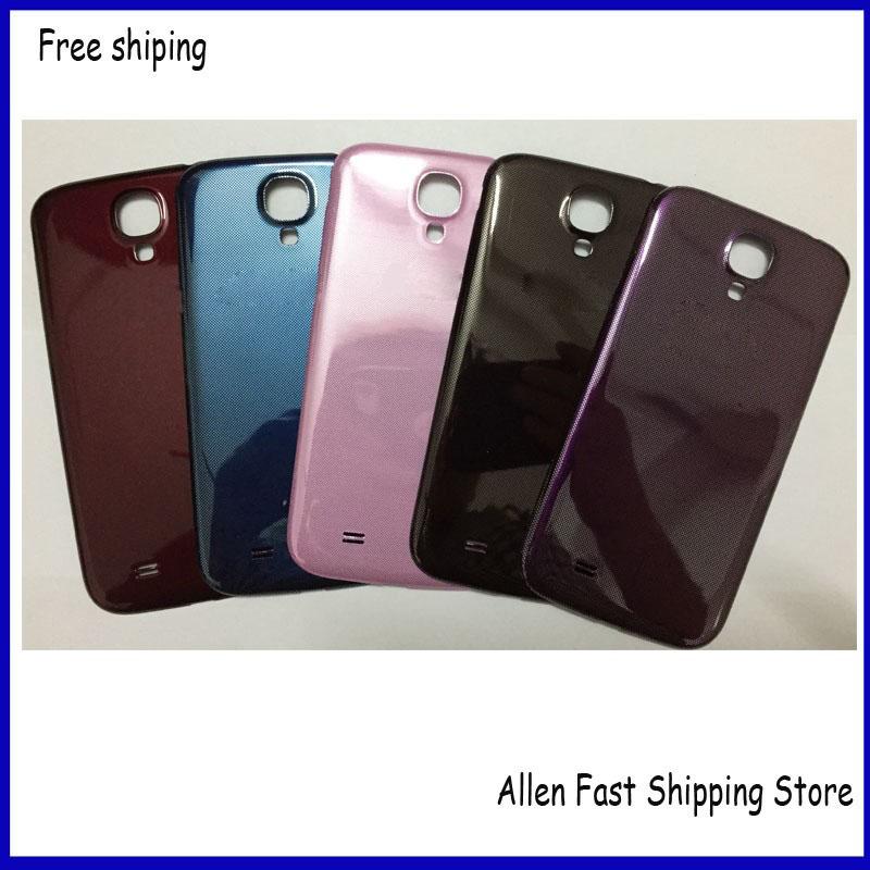 Original Housing Back Cover Battery Back Door Case For Samsung Galaxy S4 i9505 I9500 i337 +Logo. Black Blue Red Pink Purple(China (Mainland))