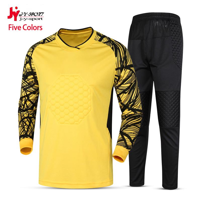 2016 Customized New Men Soccer Jersey Set Adult Long Sleeve Sport Jerseys Pants Football Training Man Suit Goalkeeper Uniform(China (Mainland))