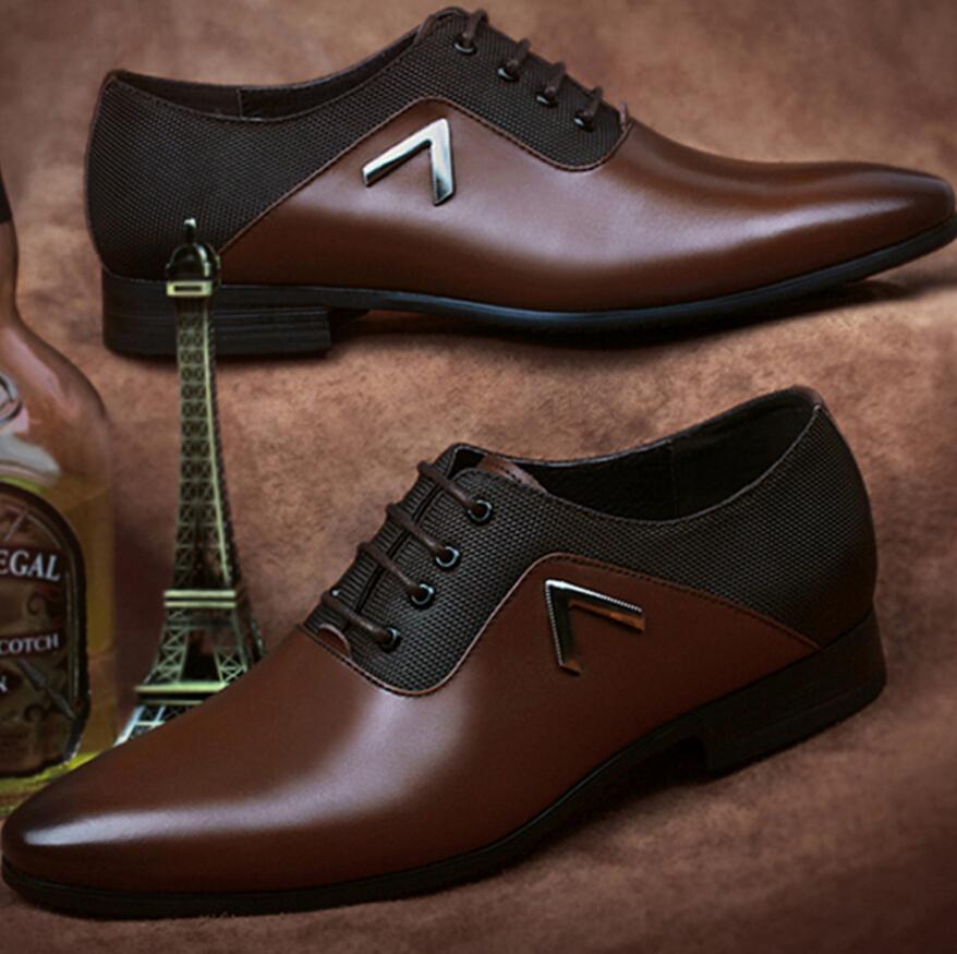 Cuero genuino hombre de bloques de Color blanco y negro zapatos de vestir para hombre zapatos