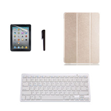 Synthetic Leather Stand Case Cover + Bluetooth Keyboard + Pen for iPad Air 2/6(China (Mainland))