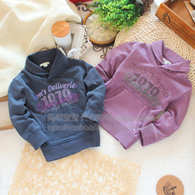 2Color 5Size New brand 2014 spring autumn children letter outerwear boy cotton fashion coat kids casual T shirts hoodies(China (Mainland))