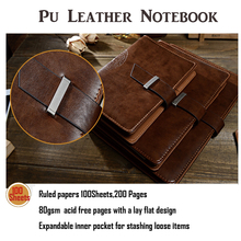 Buy Vintage Notebook Filler Paper Leather Journal Daily Luxury Style Planner Loose-Leaf Notepad Spiral Organizer A5 A6 B5 for $13.67 in AliExpress store