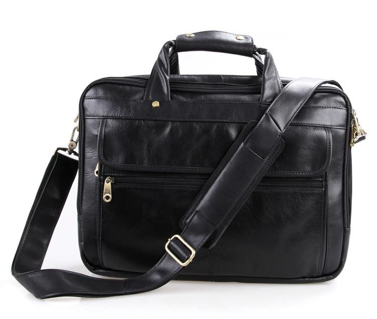 Vintage genuine leather black men messenger bags cow leather briefcase portfolio shoulder bag business men travel bags #VP-J7146<br><br>Aliexpress