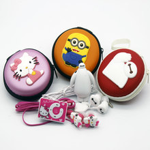 High Quality Mini Hello Kitty MP3 Despicable Me  Baymax   Music Player Clip MP3 Players Support TF Card With Earphone Mini USB(China (Mainland))