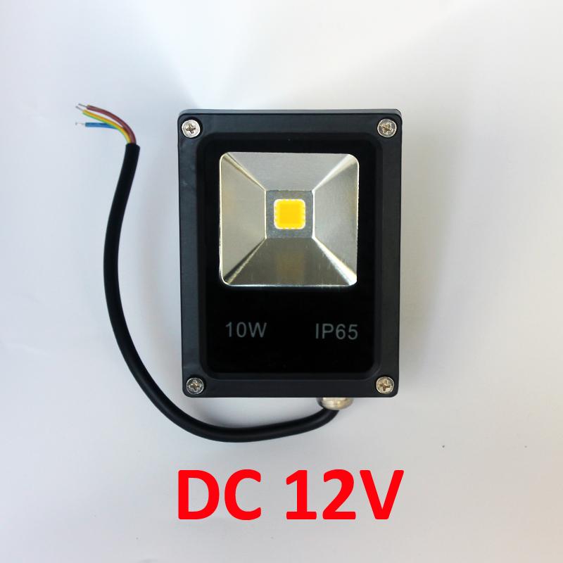 Free shipping 20pcs 10W 20W 30W 50W 100W Newest DC 12V LED luminaire light IP65 LED Flood Light Floodlight LED street Lamp(China (Mainland))