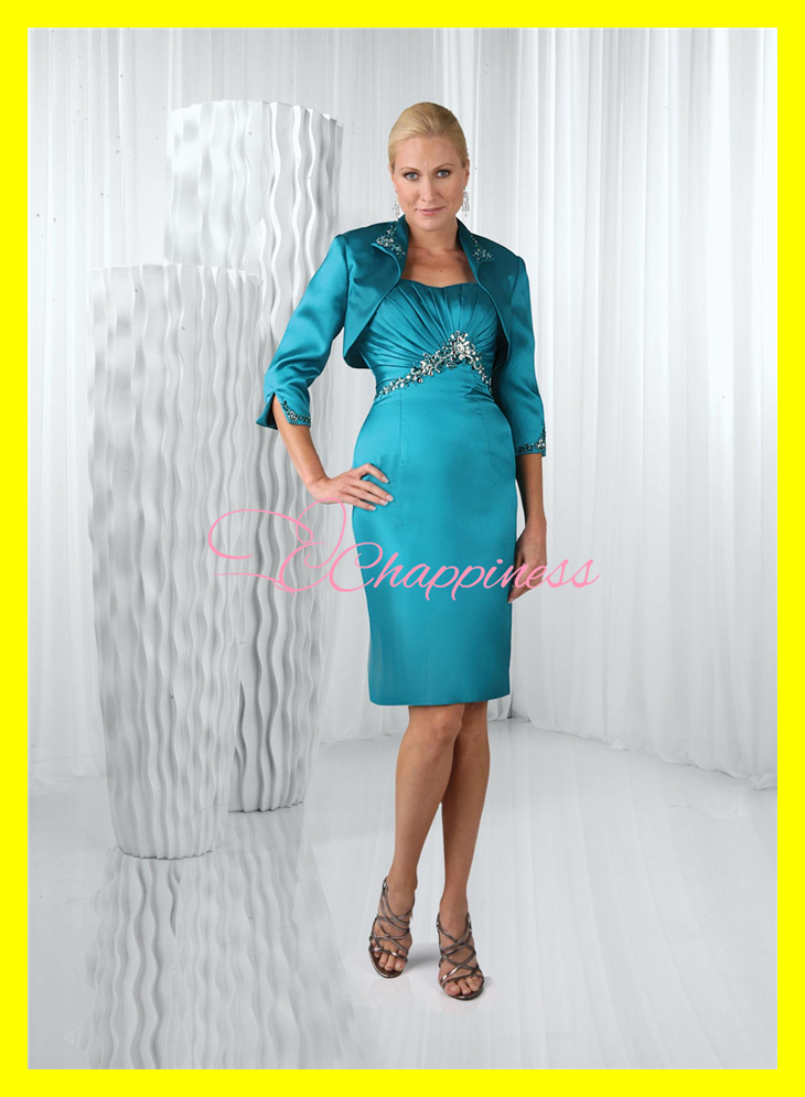 Mother Of The Bride Dresses Tea Length With Jacket Uk 87