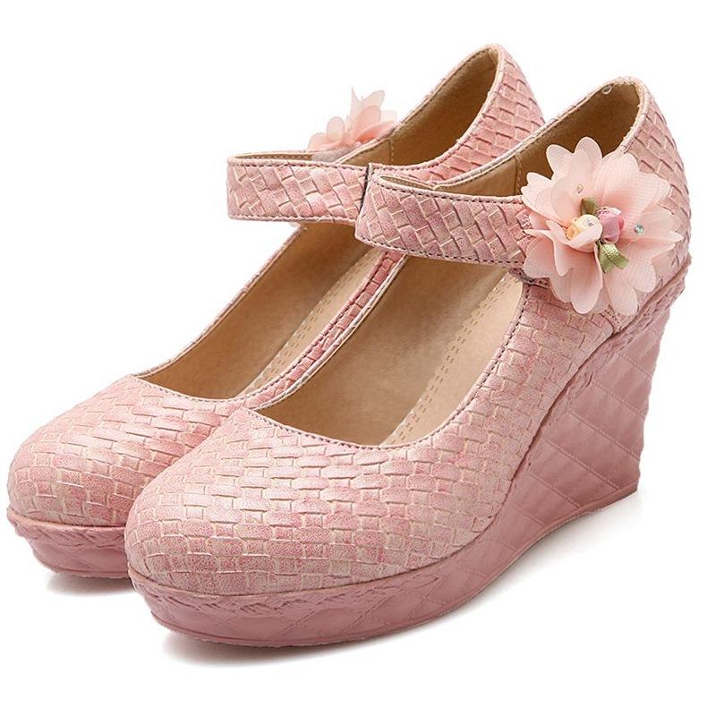 wedges white pink black shoes wedding wedge elegant bridesmaid shoes