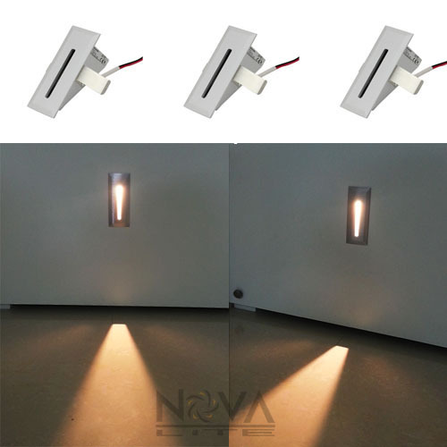 Blade Step Light LED Recessed Low Level Wall Wash Lights Interior Stair Light