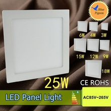 Free shipping 25W led panel lights high lumens warm white square smd led ceiling spot panels lighting bulb<br><br>Aliexpress