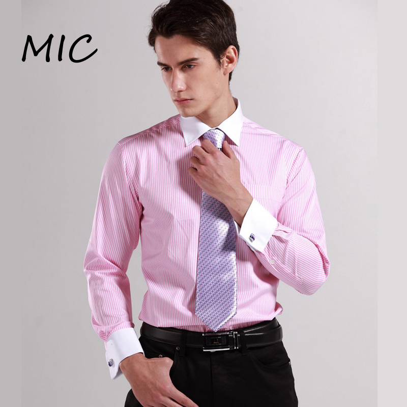 2015 new men s classic french cuff shirt brand formal for Mens dress shirts french cuffs