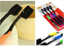 12pcs/lot Sale 2014 Nano Fiber Toothbrush Personal Care Interdental Teeth brushes Oral Hygiene Korea Bamboo charcoal toothbrush