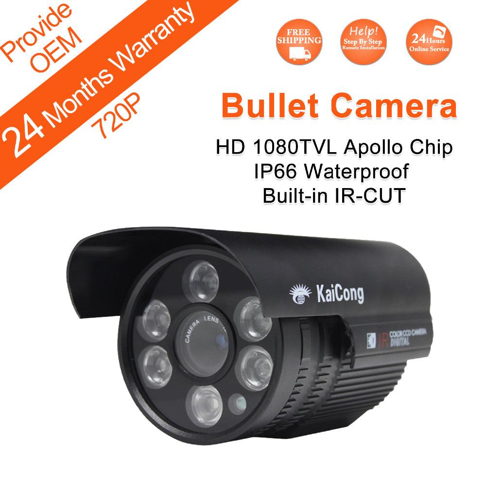 Гаджет  HD 1080 TVL Apollo Chip Outdoor IP66 Level Waterproof  Six LEDs Array CCTV Camera Built-in IRCUT Lens 8mm(Default) KaiCong S436 None Безопасность и защита